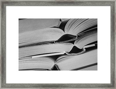 Open Books Framed Print