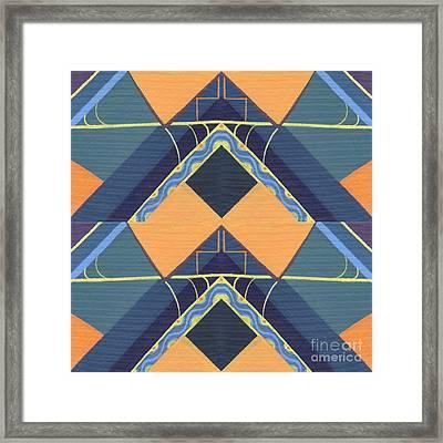 Open Channels - Tjod X X I I Arrangement Framed Print by Helena Tiainen