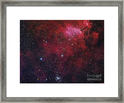 Open Cluster Ngc 6231, The Prawn Nebula Framed Print by Roberto Colombari