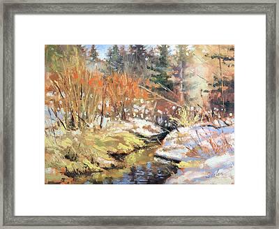 Open Creek Framed Print by Larry Seiler