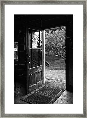 Open Door B-w Framed Print by Christopher Holmes