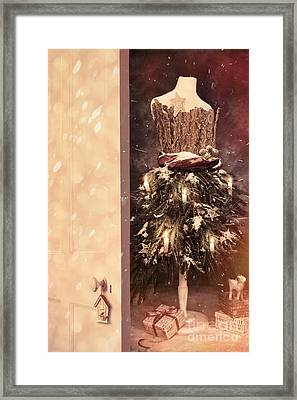 Open Door Into Christmas Framed Print by Amanda Elwell