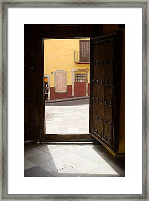 Open Door Looking Out Framed Print by Rob Huntley