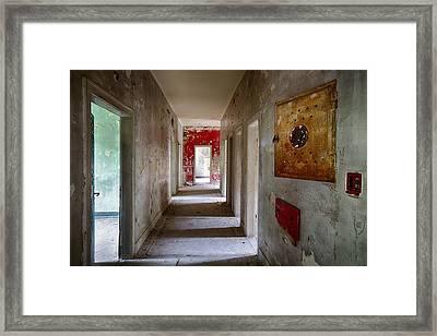 Open Doors - Abandoned Building Framed Print