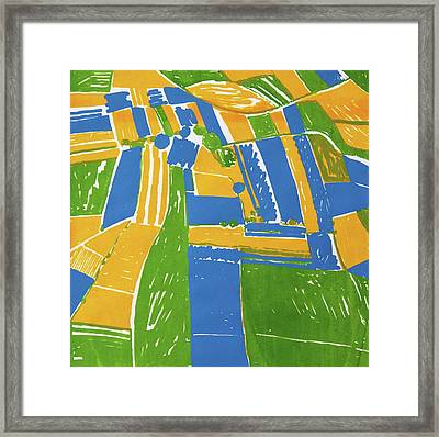 Open Field Yellow Framed Print