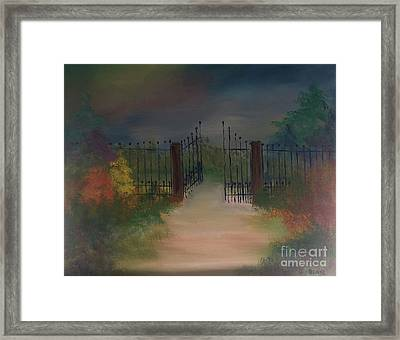 Framed Print featuring the painting Open Gate by Denise Tomasura