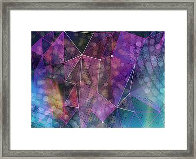 Open Geometric Framed Print