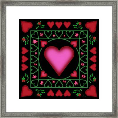 Open Heart Framed Print by Clare Goodwin