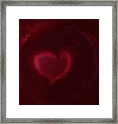Open Heart Framed Print by Eileen Shahbazian