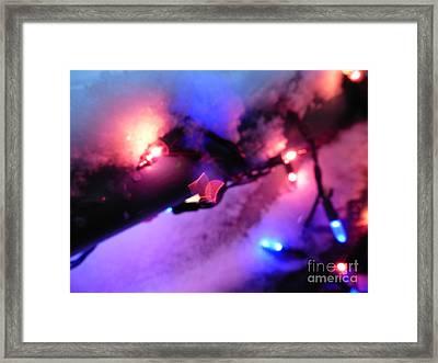 Open Heart Magical Lights Framed Print