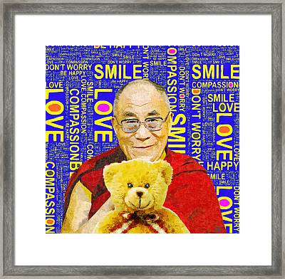 Open Heart, Open Mind - Royal Blue  Framed Print by Stacey Chiew