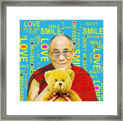 Open Heart, Open Mind - Sky Blue Framed Print by Stacey Chiew