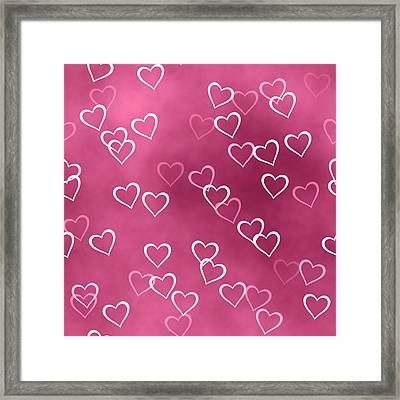 Open Hearted Design Framed Print