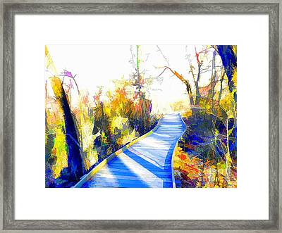 Open Pathway Meditative Space Framed Print by Robyn King