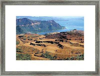 Open-pit Mining At Poro In New Caledonia Framed Print by Sami Sarkis