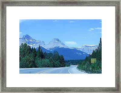Framed Print featuring the photograph Open Road by Al Fritz