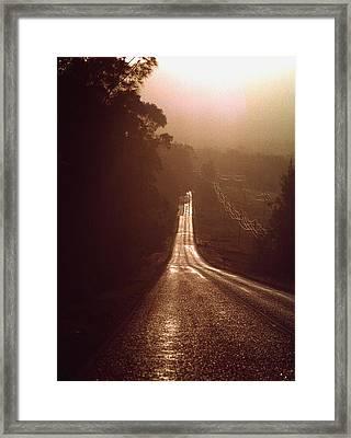 Open Road Framed Print by David Halperin