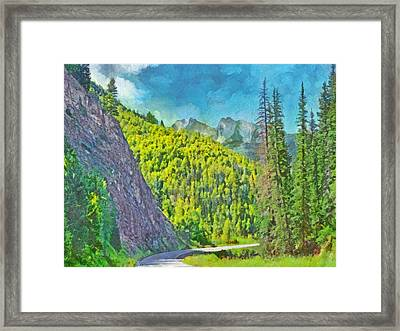 Open Road In The Colorado Rocky Mountains Framed Print