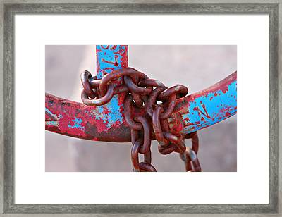 Open Rusted Chain Framed Print by James BO  Insogna