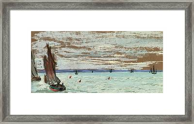 Open Sea Framed Print by Claude Monet