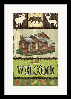 Country Scene Mixed Media Framed Prints