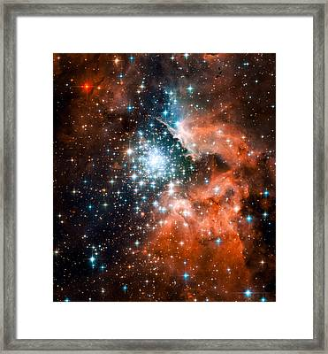Open Star Cluster And Nebula Ngc 3603 Framed Print by Space Art Pictures