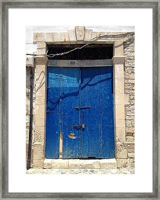 Open The Door To Cyprus  Framed Print by Clay Cofer