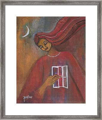 Framed Print featuring the painting Open The Windows To Your Soul by Prerna Poojara
