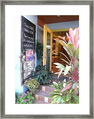 Open To The Public Framed Print by Kim Zwick