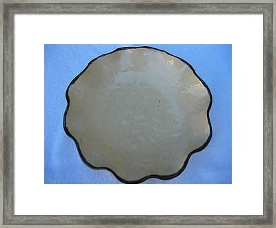 Open Vessel With Brown Rim Framed Print by Julia Van Dine