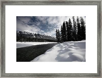 Open Water In Winter Framed Print by Mark Duffy
