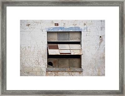 Opened Window Framed Print