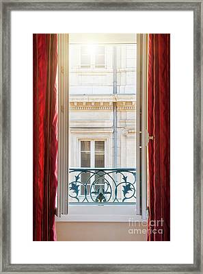 Open Window In Toulouse Framed Print