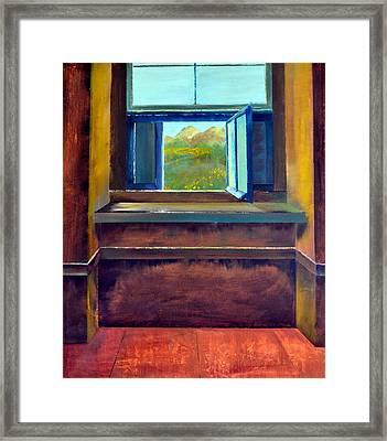 Open Window Framed Print by Michelle Calkins