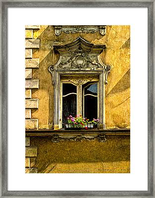 Open Window Framed Print by Robert Meyerson