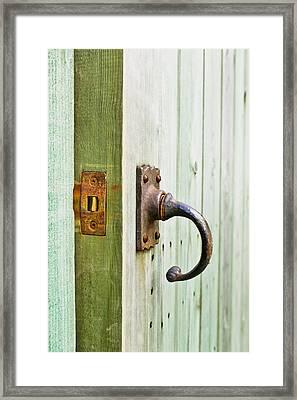 Open Wooden Door Framed Print by Tom Gowanlock