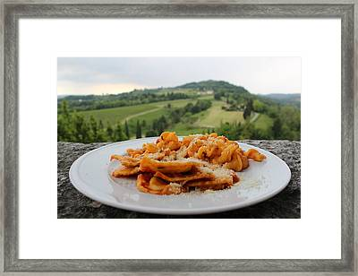 Openair Pasta Framed Print