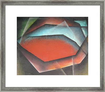 Framed Print featuring the painting Opening by Carrie Maurer
