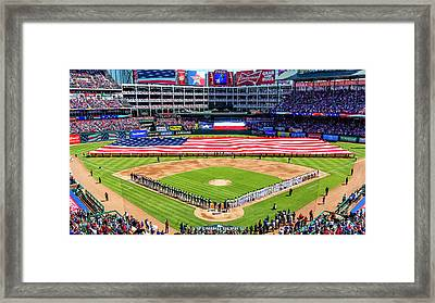 Opening Day At Globe Life Park Framed Print