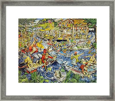 Opening Day Of Fishing Framed Print by Jack G  Brauer