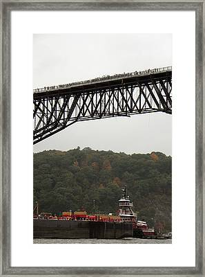 Opening Day Of  Walkway Over The Hudson 2009 Framed Print