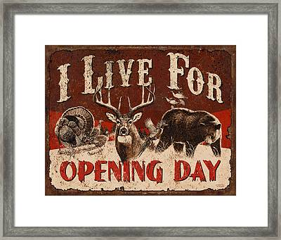 Opening Day Sign Framed Print