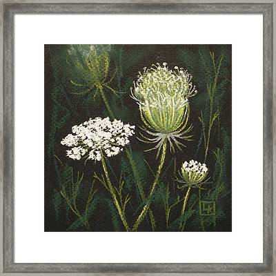 Opening Lace Framed Print by Lisa Kretchman