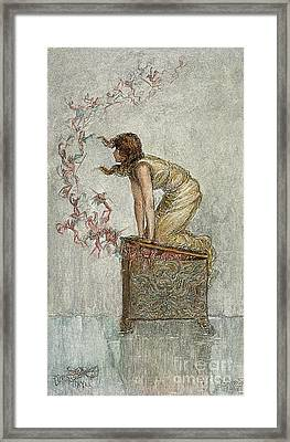 Opening Of Pandoras Box Framed Print by Granger