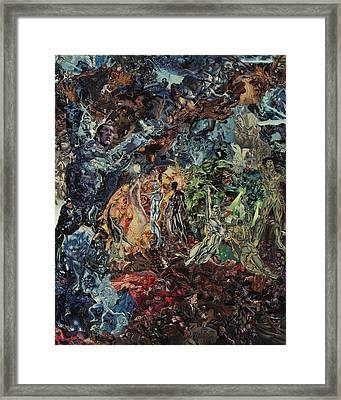 Opening Of The Fifth Seal After El Greco Framed Print