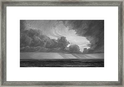 Opening Sky - Black And White Framed Print
