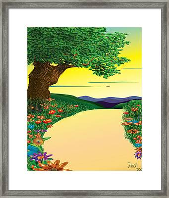 Opening Steps To Goodness Framed Print by Ross Powell