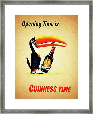 Opening Time Is Guinness Time Framed Print