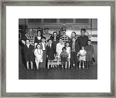 Opera Company At Ellis Island Framed Print