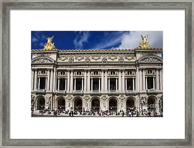 Opera Garnier. Paris. France Framed Print by Bernard Jaubert